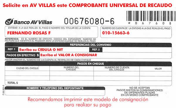 consignación AV Villas